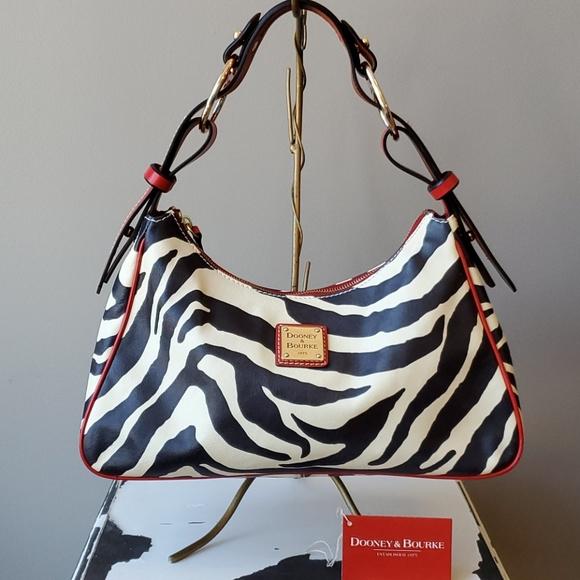 Dooney & Bourke Handbags - Dooney & Bourke Large Zebra Hobo